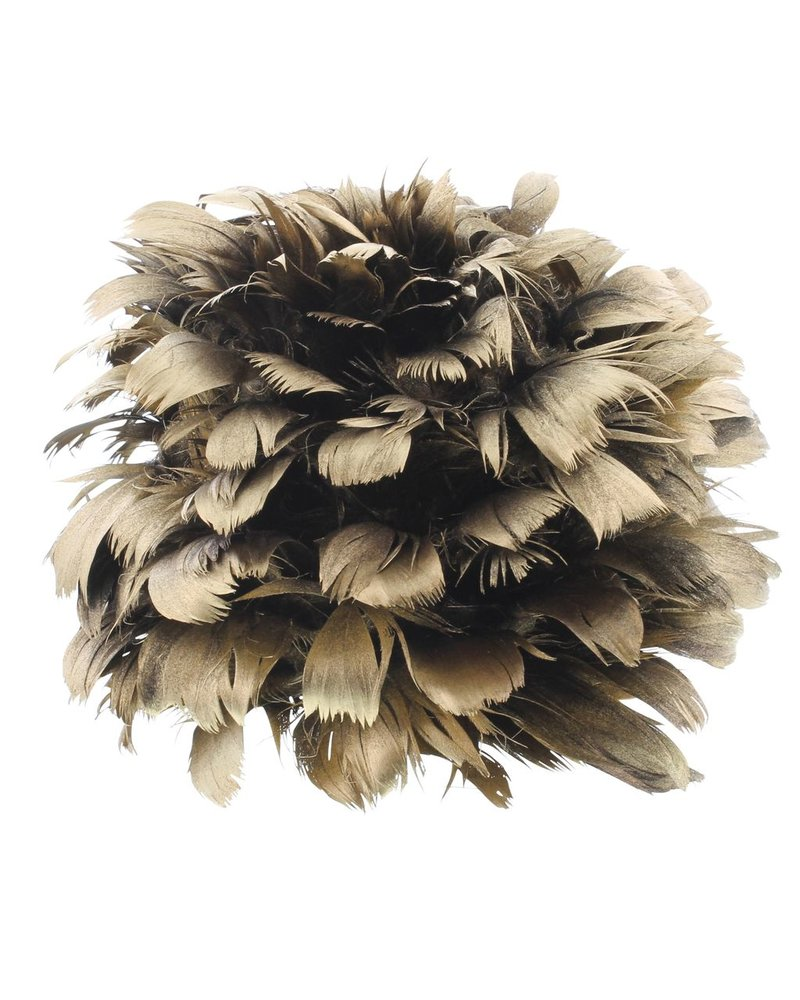 HomArt Gold Feather Pomanders Ball - Large