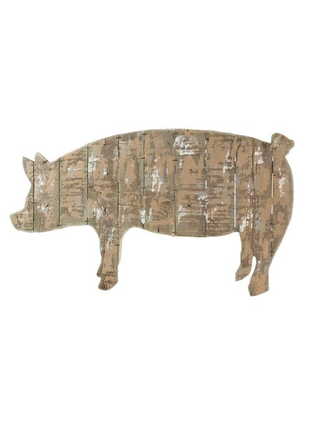 HomArt Wood Slat Pig Wall Art