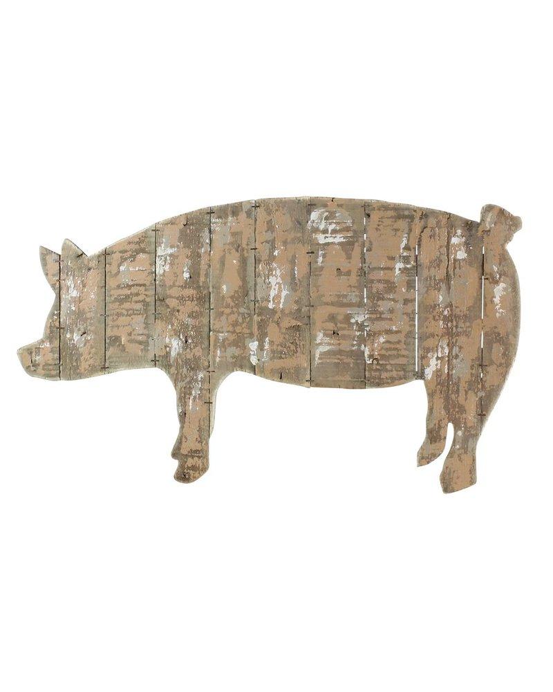 HomArt Wood Slat Pig Wall Art