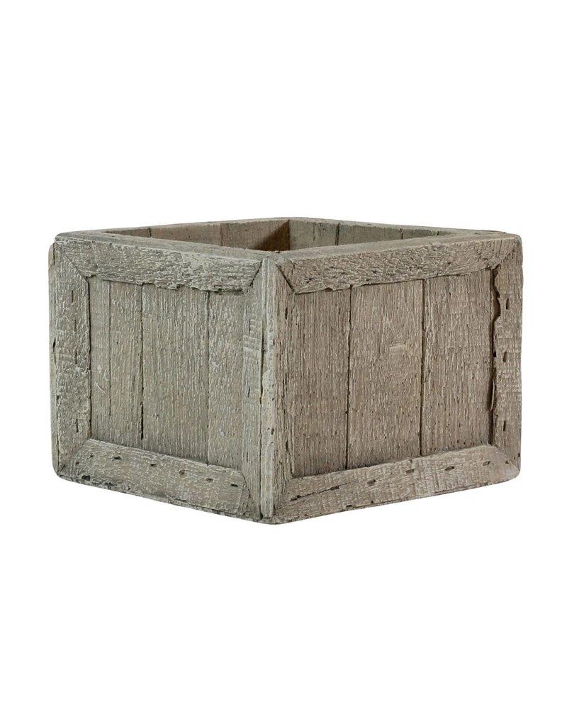 HomArt Cast Cement Wharf Crates - Square - Sm
