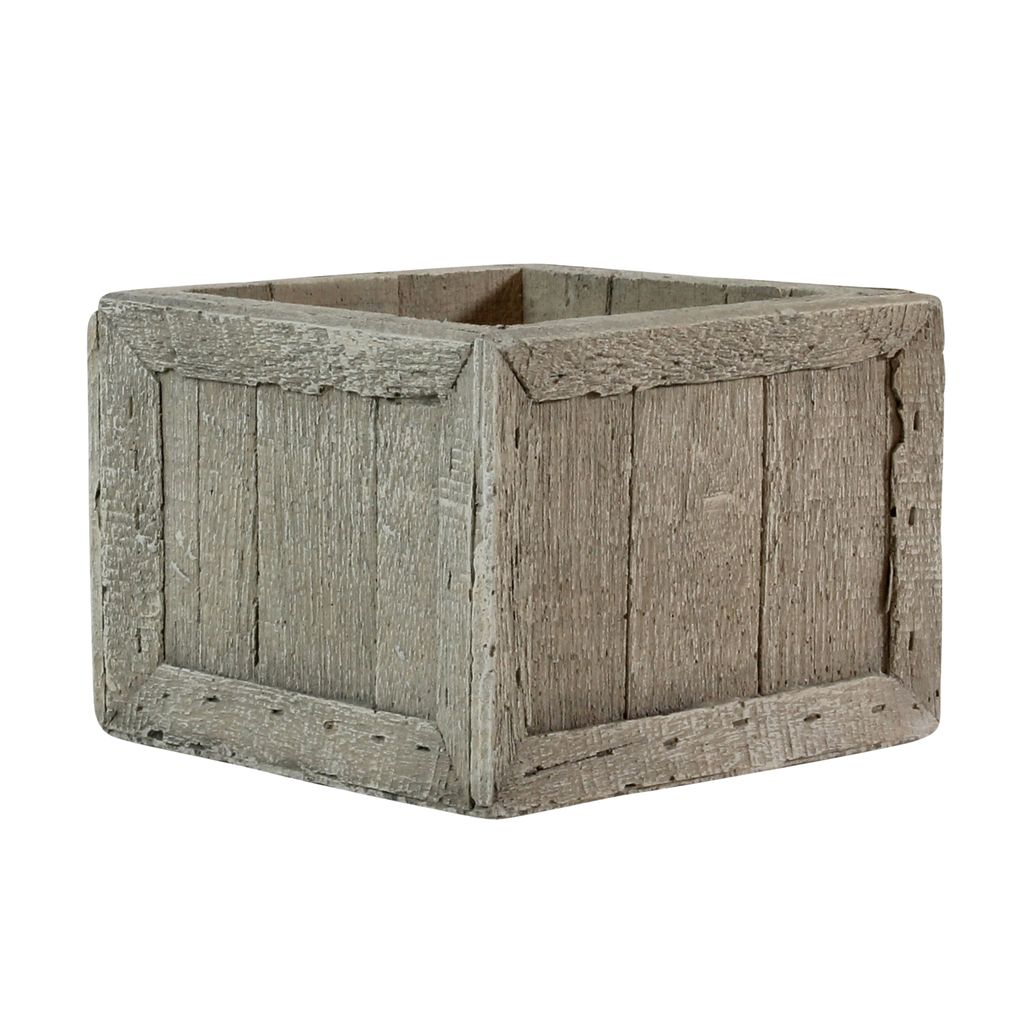 HomArt Cast Cement Wharf Crates - Square - Sm