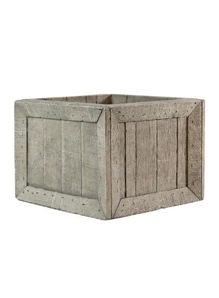 HomArt Cast Cement Wharf Crates - Square - Lrg