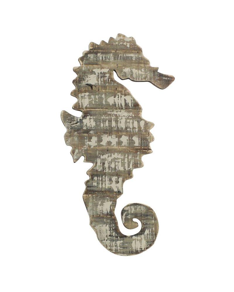 HomArt Wood Slat Sealife Seahorse Wall Art