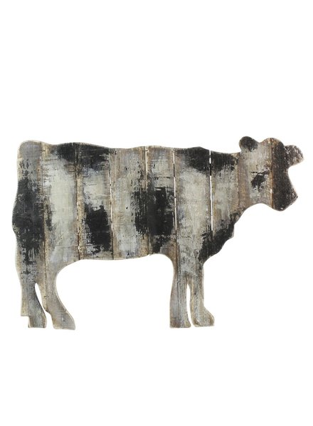 HomArt Wood Slat Cow Wall Art