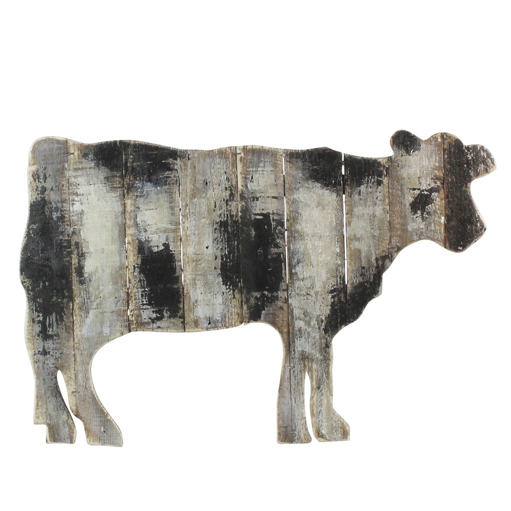 homart wood slat cow wall art areohome