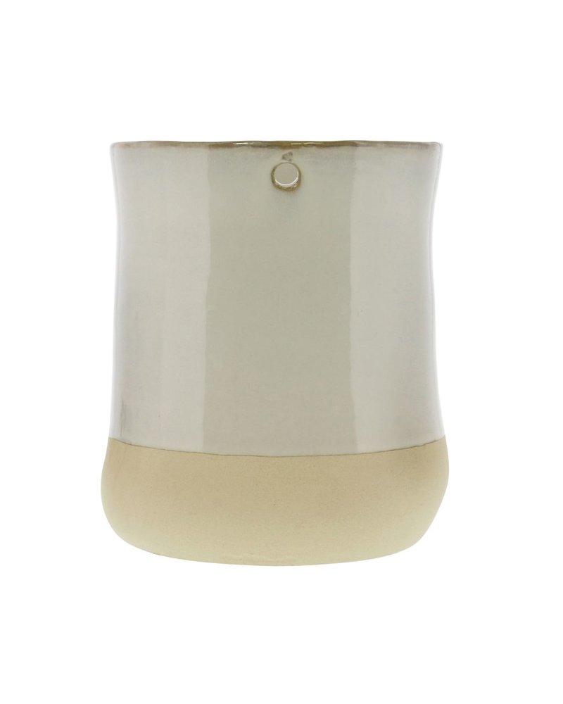 HomArt Mason Ceramic Hanging Vase - Wide