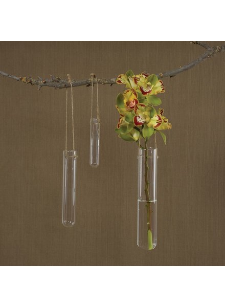 HomArt Hanging Glass Tube Vase - Lrg