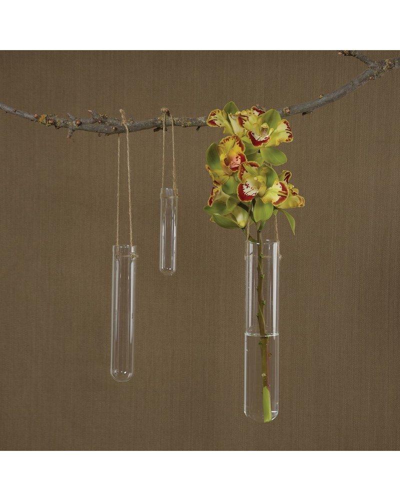 HomArt Hanging Glass Tube Vase - Lrg