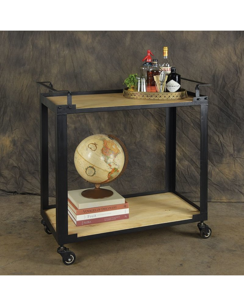 HomArt Mateo Bar Cart - Iron and Wood