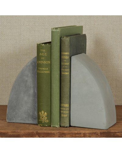 HomArt Geometric Cement Bookends - Arch