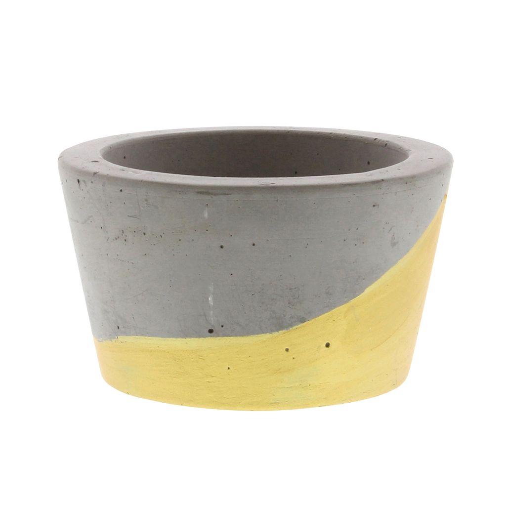 HomArt Cement Tealight Holder in Gold - Sm