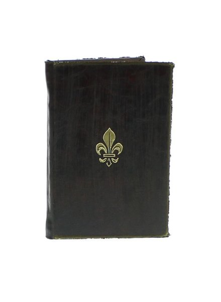 HomArt Royal Embossed Journal - Fleur De Lys - Brown
