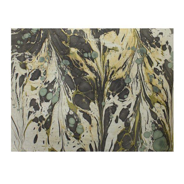 HomArt Aqua Marbleized Paper Gift Wrap - Roll of 6 Sheets