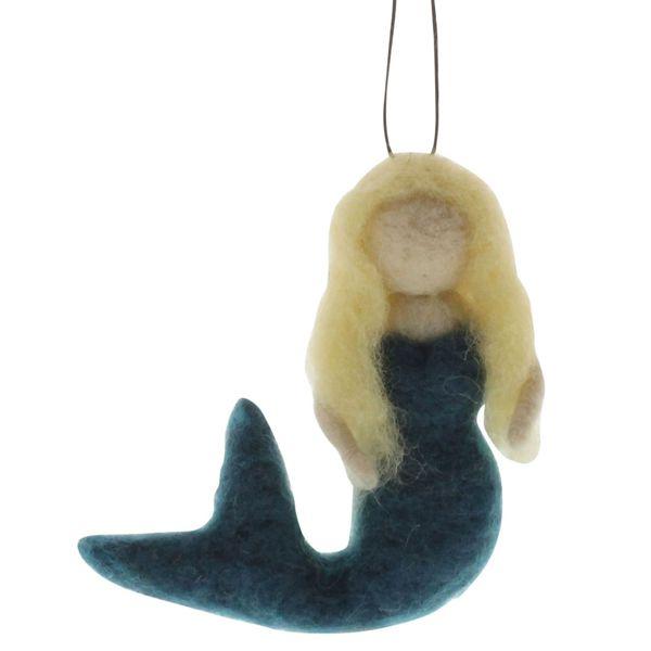 HomArt Felt Mermaid Ornament - Blonde