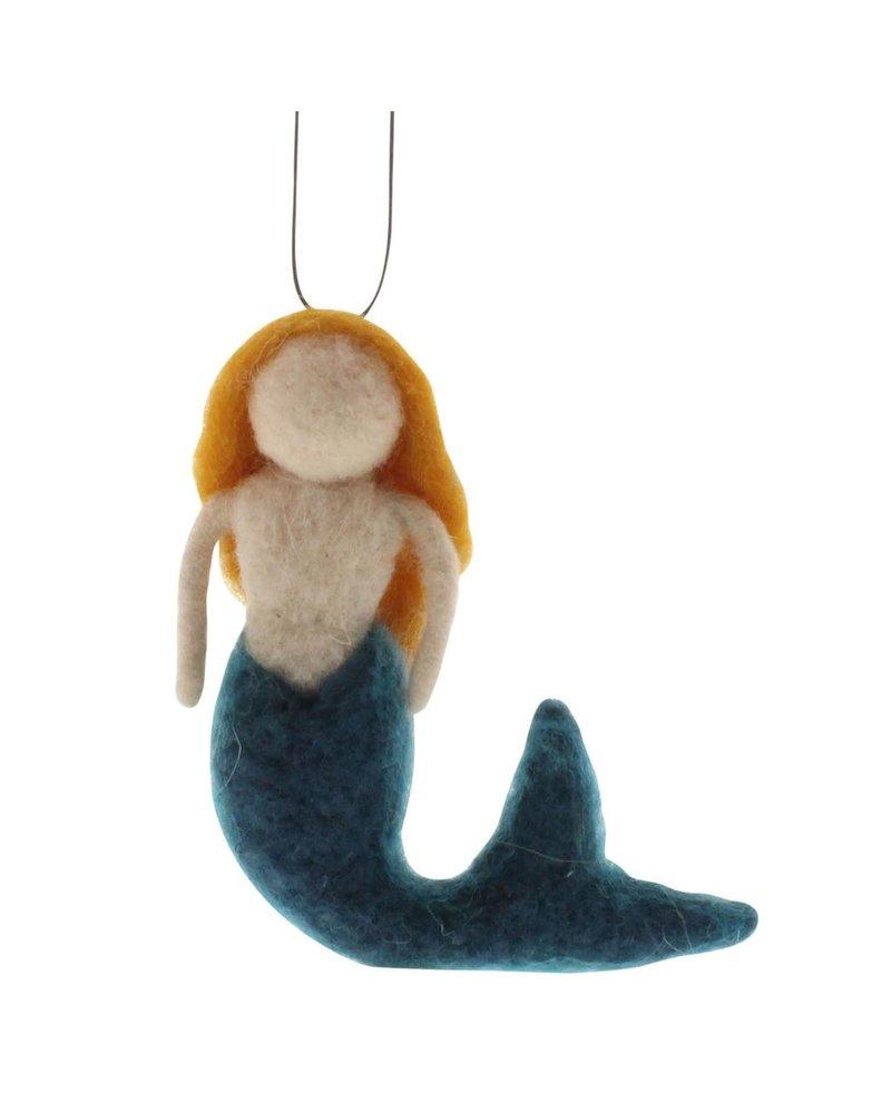 HomArt Felt Mermaid Ornament - Ginger