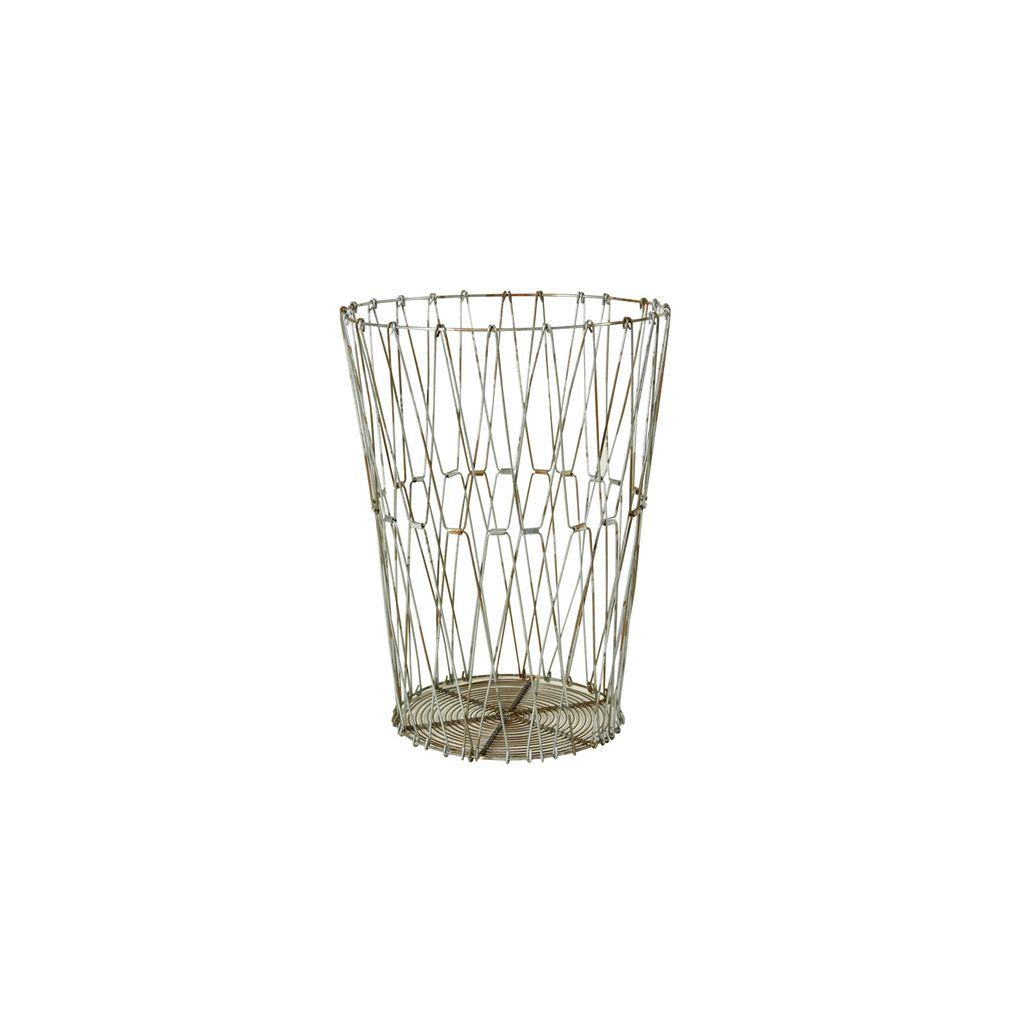 HomArt Edison Wire Basket - Sm Natural