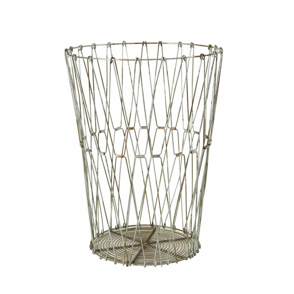 HomArt Edison Wire Basket - Lrg Natural