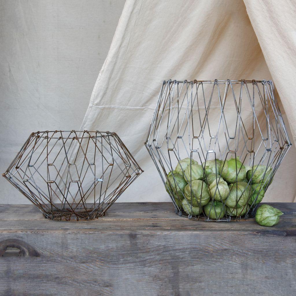 HomArt Edison Wire Basket - Lrg Natural