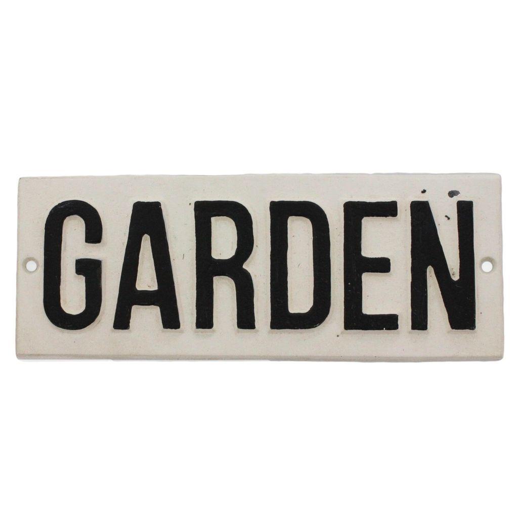 HomArt Cast Iron Sign - Garden
