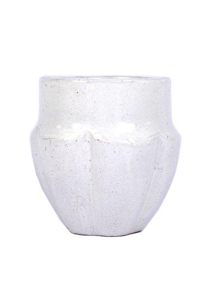 HomArt Neiman Earthenware Vase - Sm White
