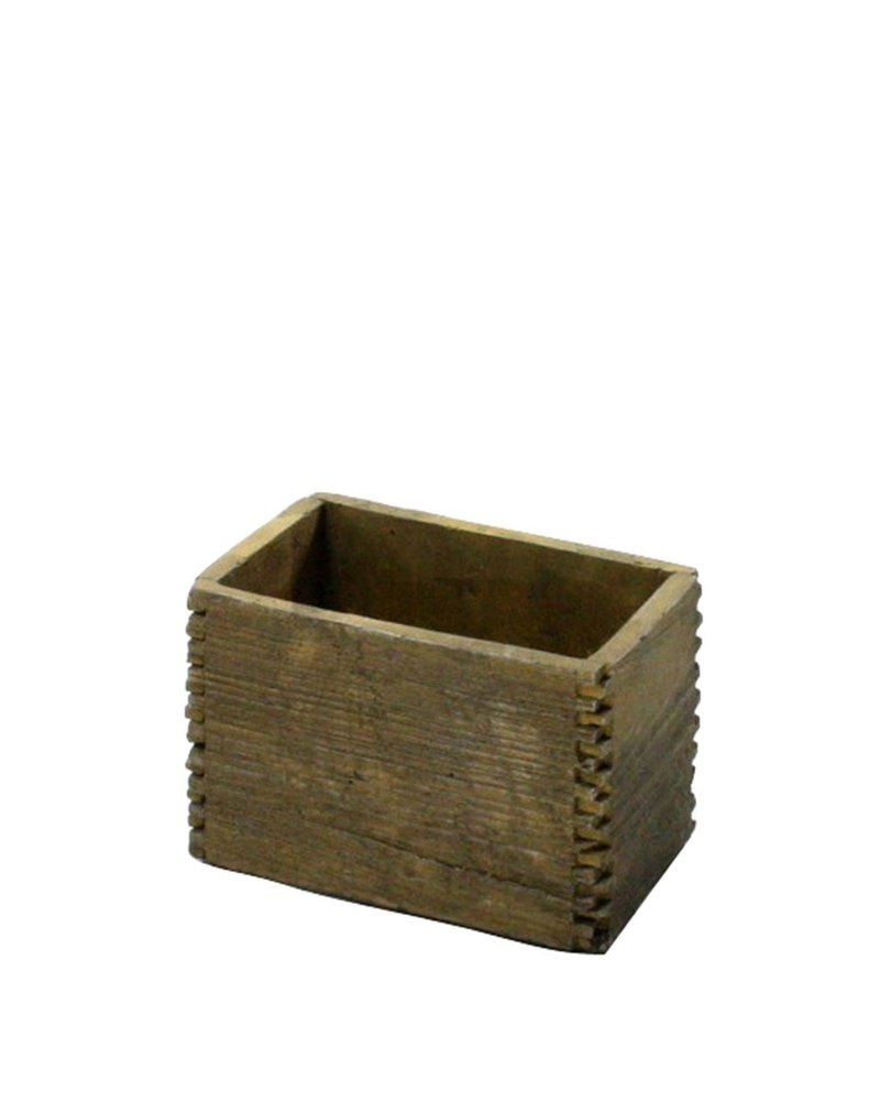 HomArt Box Joint Cement Crate - Sm Light Brown Wood