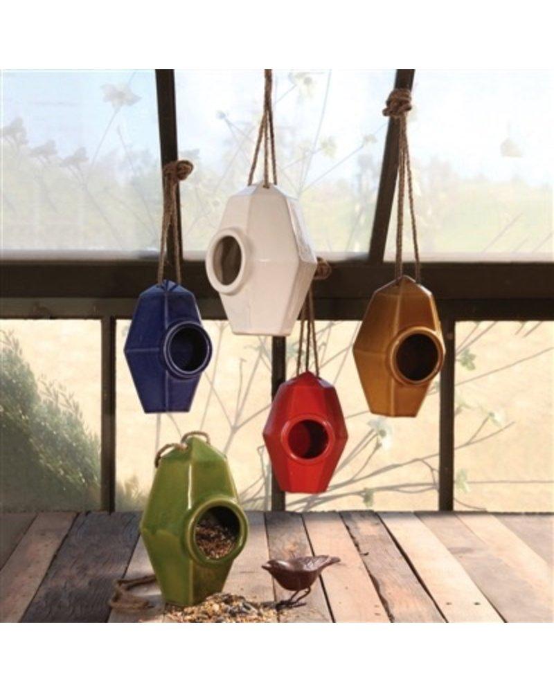 HomArt Perch Ceramic Bird House Amber