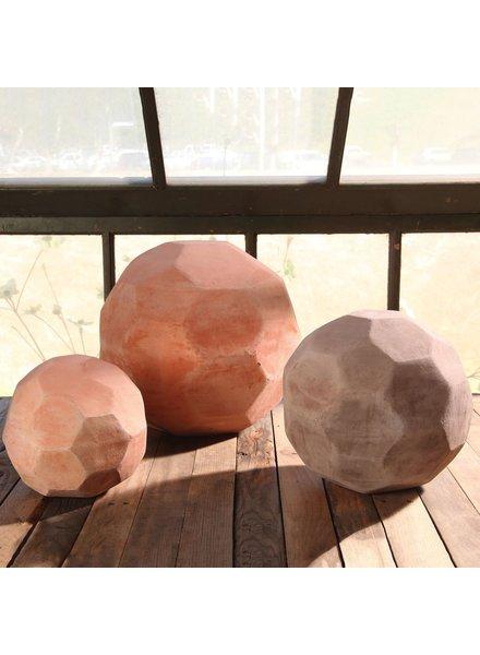 HomArt Terracotta Faceted Sphere - Med