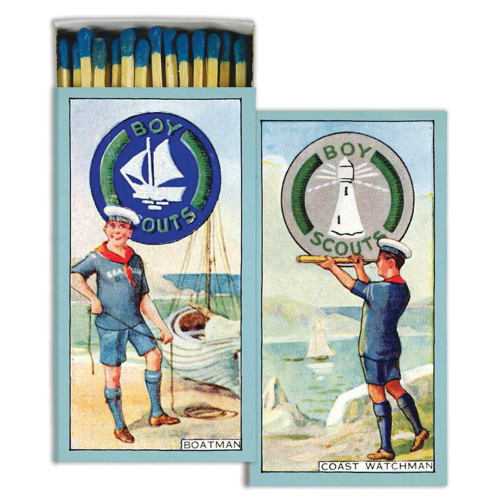 HomArt Boy Scouts - Boaters - Matches Set of 3 Boxes