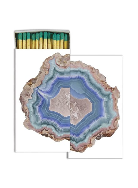 HomArt Blue Agate - Matches Set of 3 Boxes
