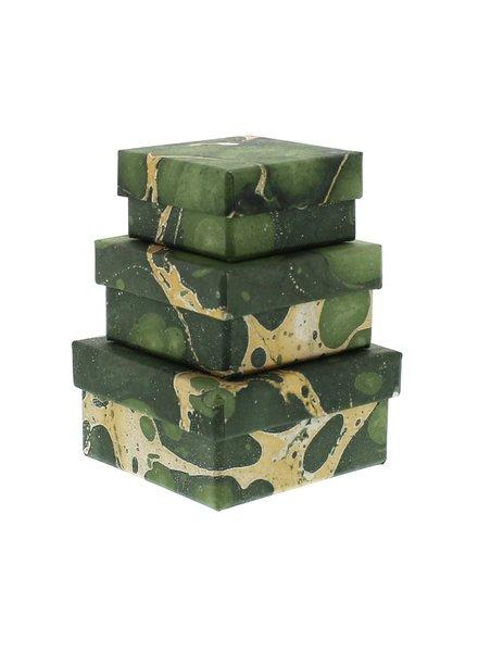 HomArt Green Marbleized Nesting Boxes - Set of 3