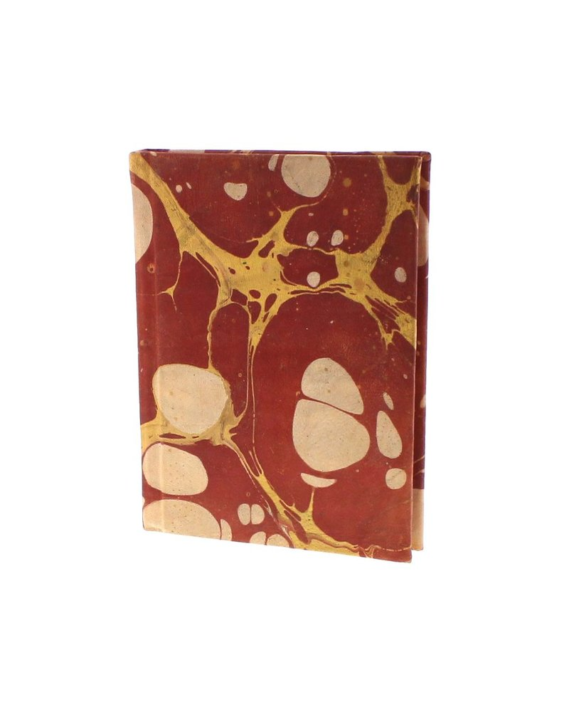 HomArt Marbleized Leather Journal  Red