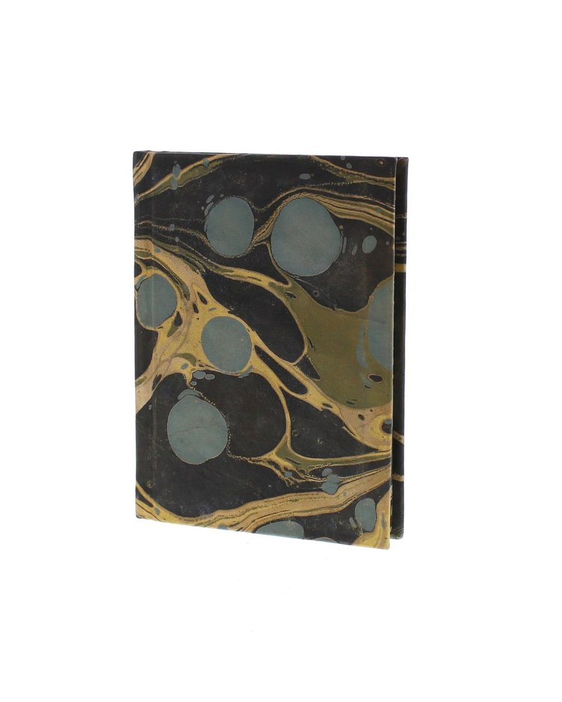 HomArt Marbleized Leather Journal  Aqua