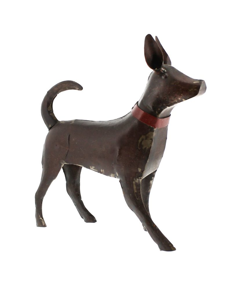 HomArt Reclaimed Metal Walking Dog - Large, Rust