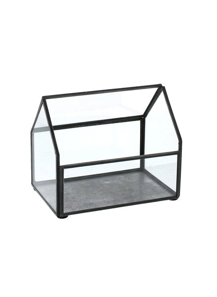 HomArt Pierre Cottage Glass Terrarium - Small