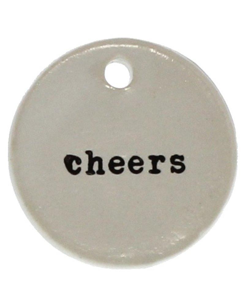 HomArt Ceramic Round Tag - Cheers