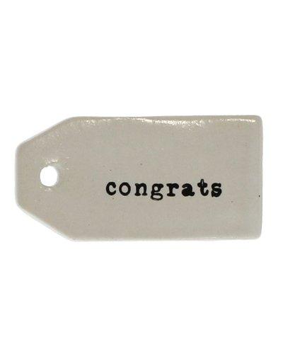 HomArt Ceramic Tag - Congrats