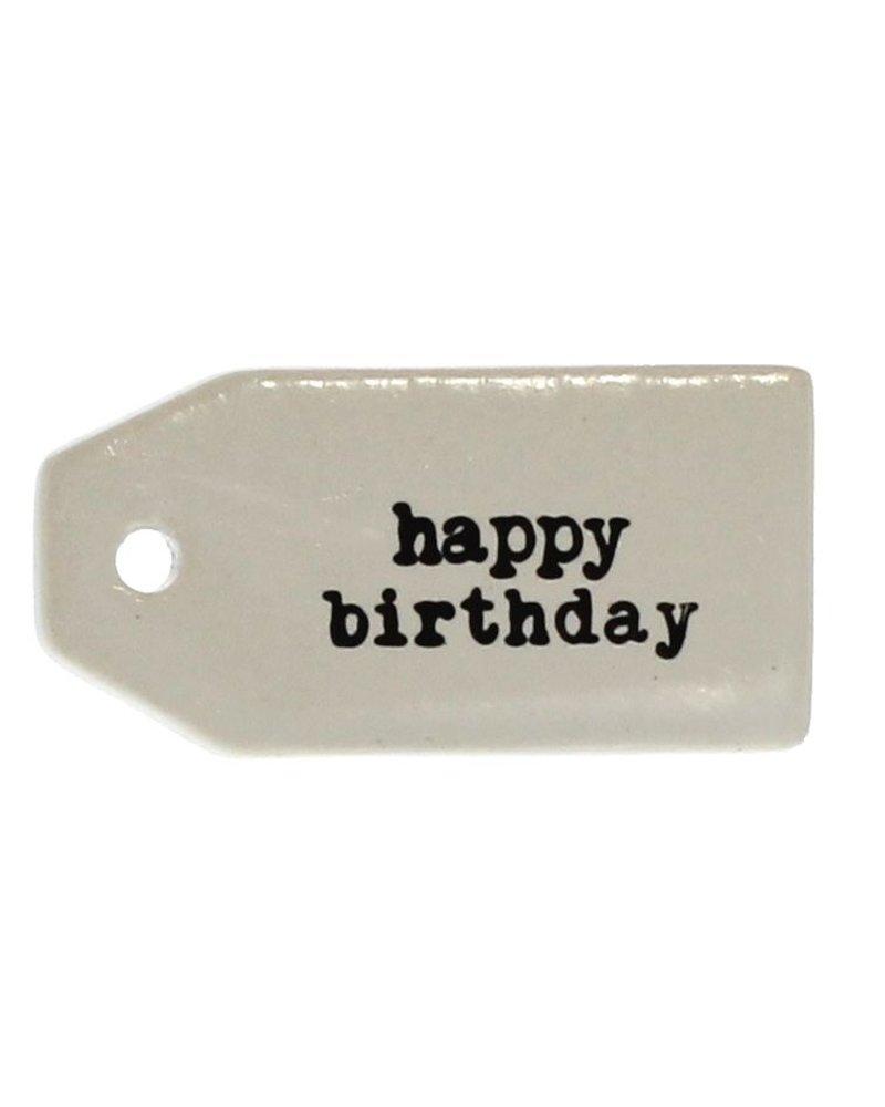HomArt Ceramic Tag - Happy Birthday