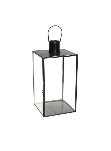 HomArt Langdon Leaded Glass Lantern - Lrg