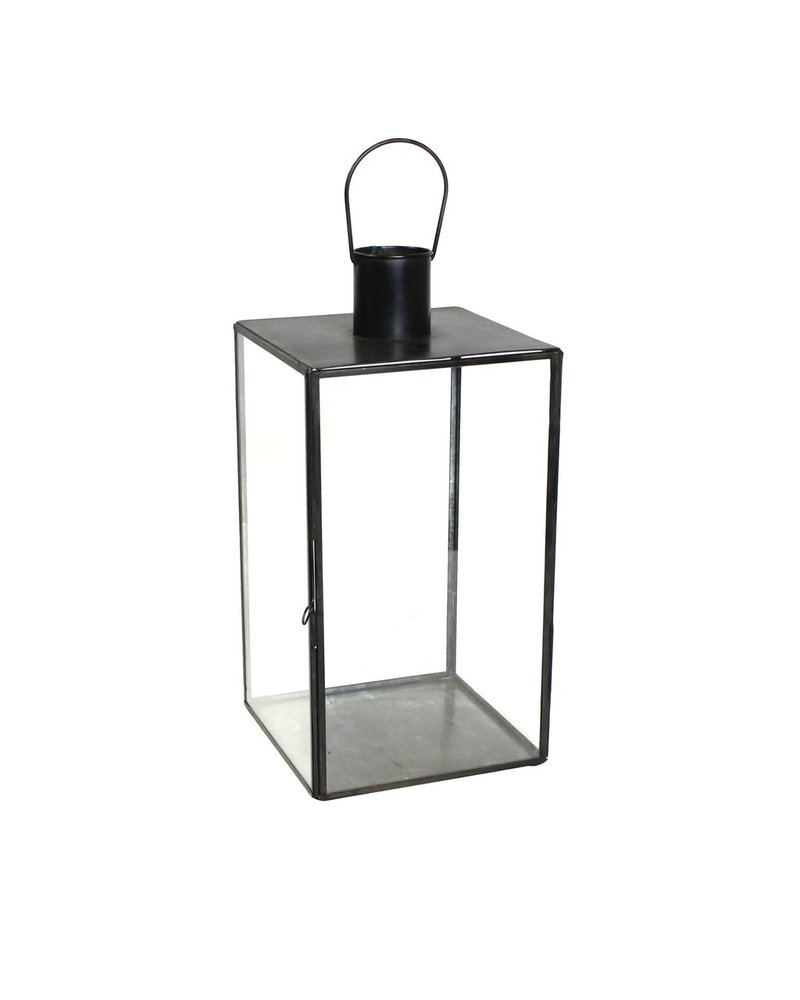 HomArt Langdon Leaded Glass Lantern - Lrg