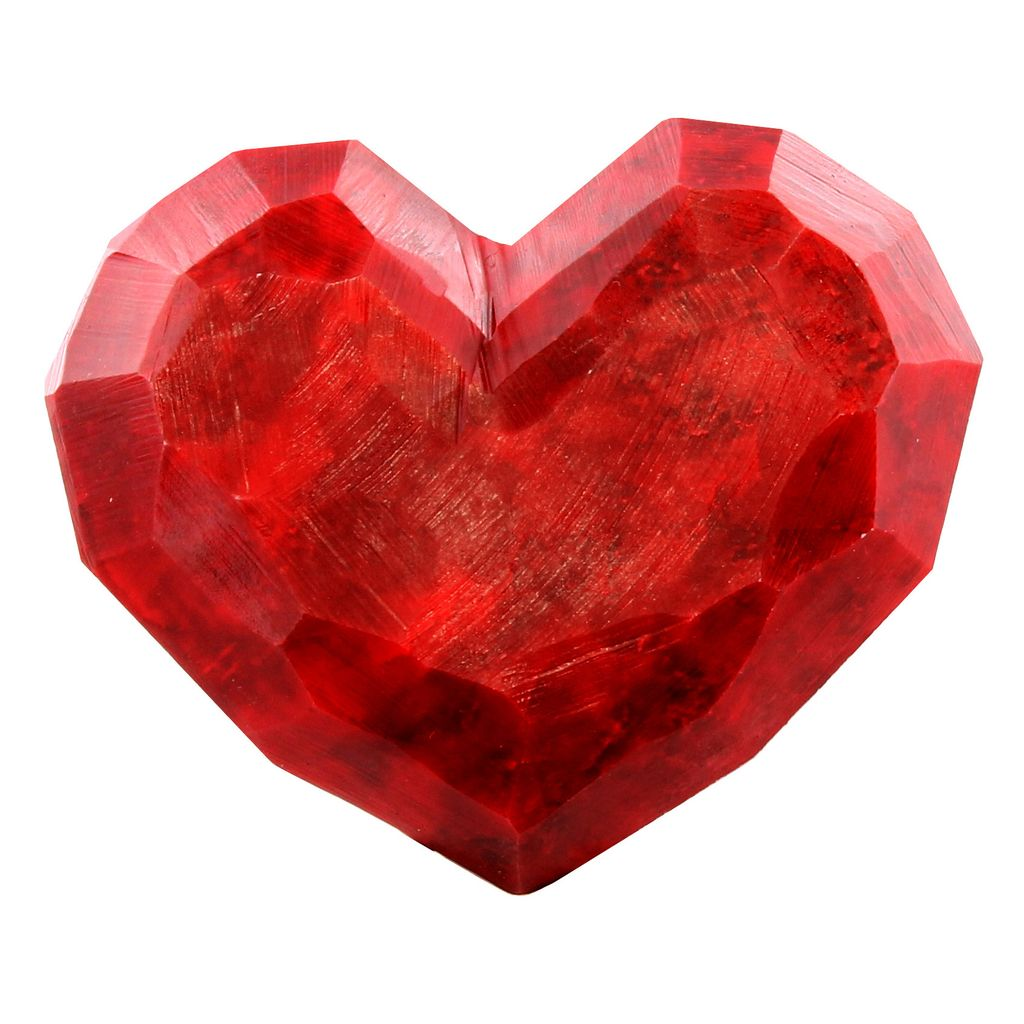 HomArt Faceted Soapstone Hearts - Lrg