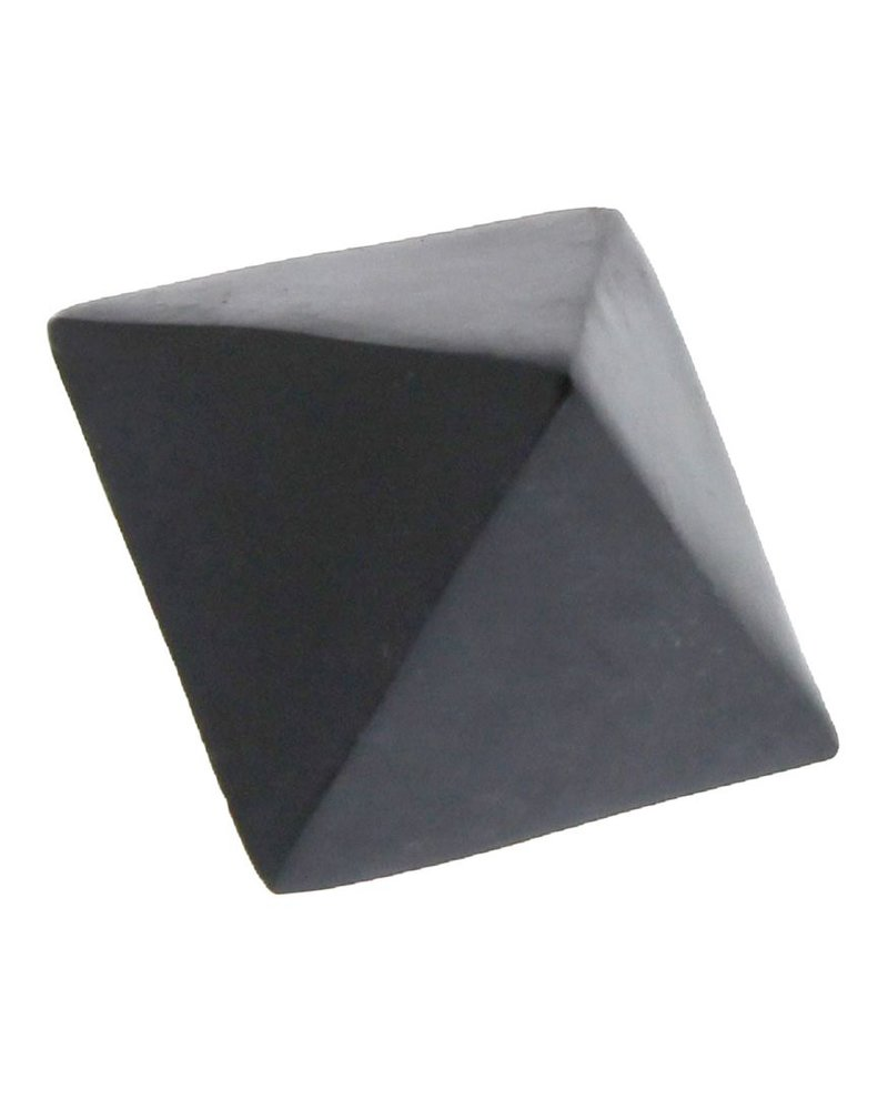 HomArt Black Soapstone Geometric Object - Octahedron