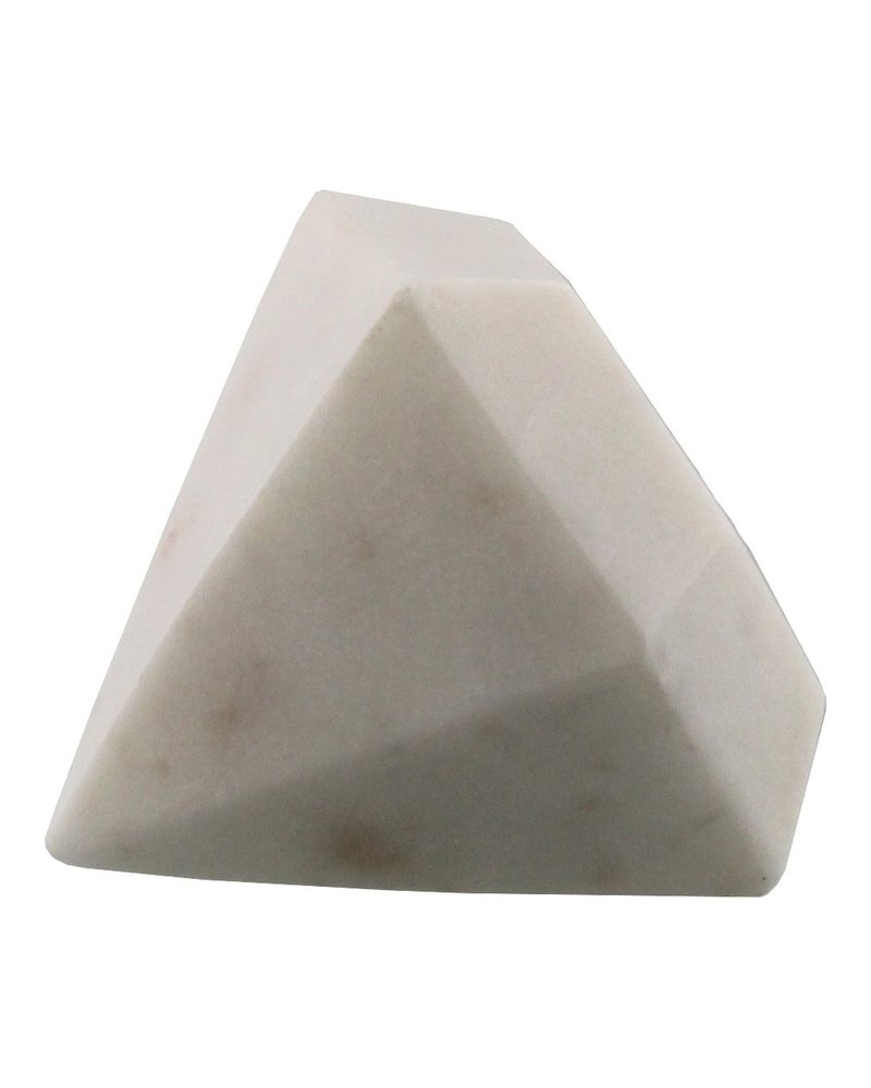 HomArt White - Soapstone Geometric Object - Diamond