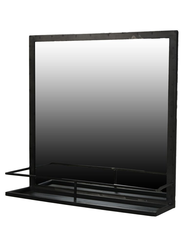HomArt Lucas Iron Framed Mirror with Shelf