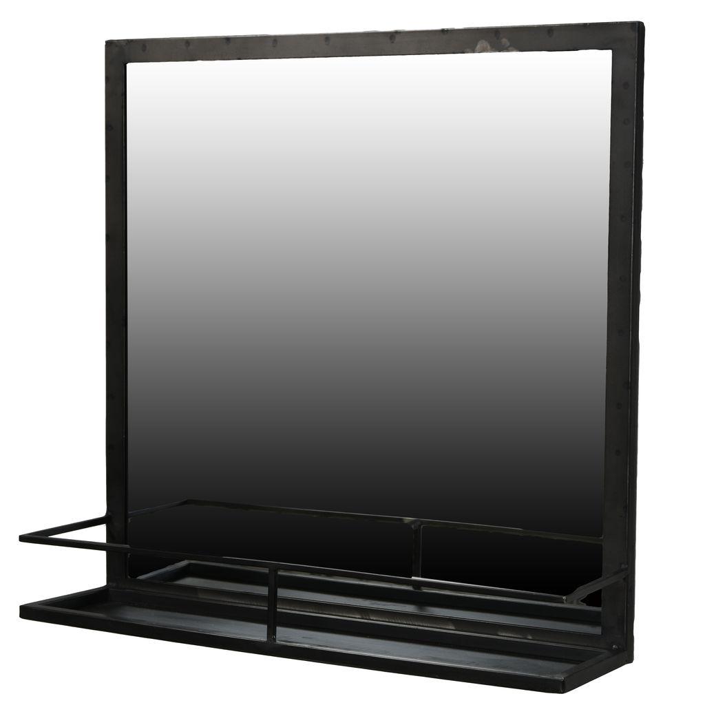 Homart Lucas Iron Framed Mirror With Shelf
