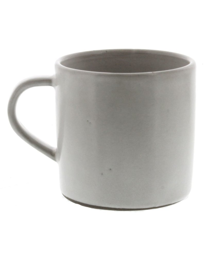 HomArt Liam Ceramic Mug -White Glaze  White Glaze