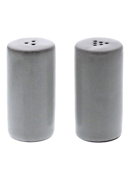 HomArt Liam Ceramic Salt & Pepper Shakers - White Glaze