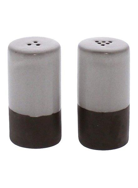 HomArt Liam Ceramic Salt & Pepper Shakers - Partial Glaze