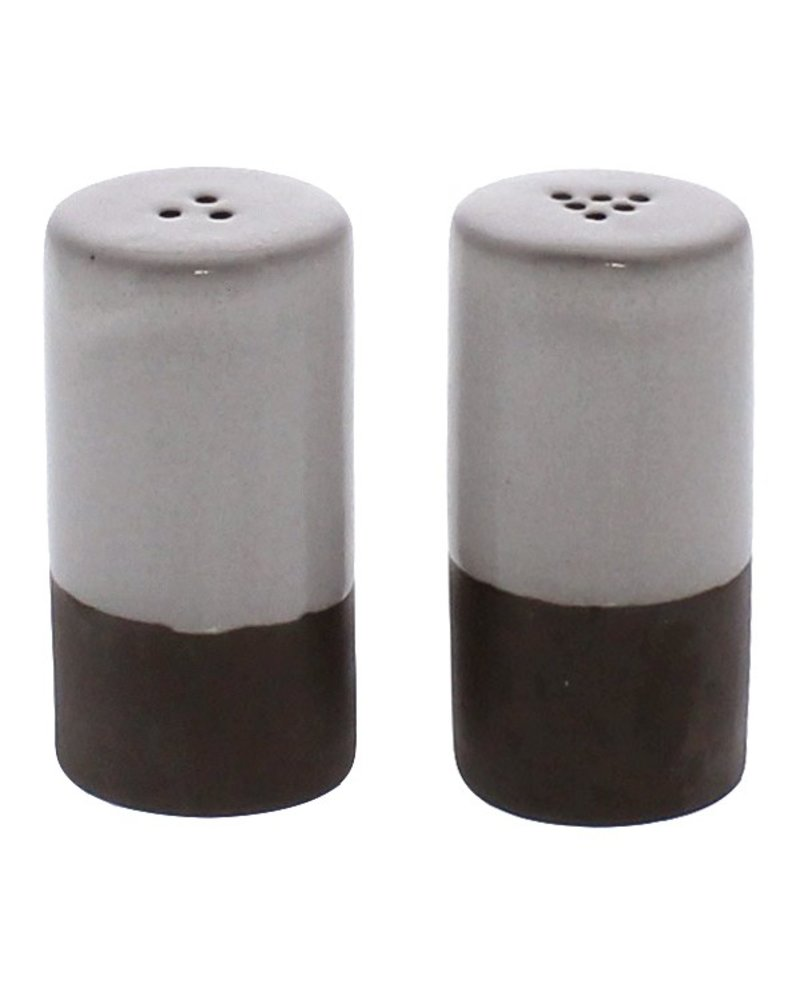 HomArt Liam Ceramic Salt & Pepper Shakers - Partial Glaze
