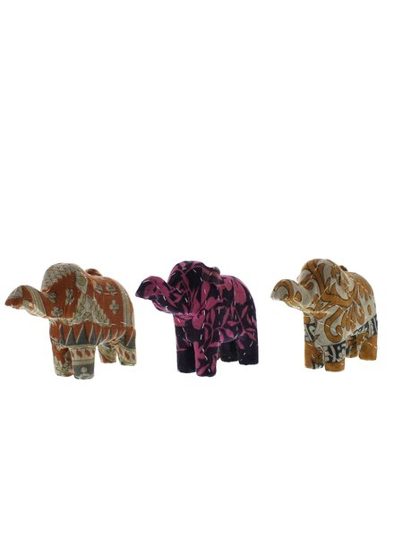 HomArt Vintage Sari Elephant Ornament