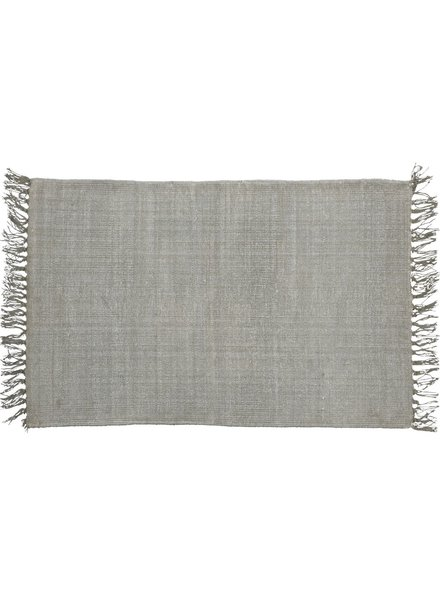 HomArt Stonewashed Cotton Rug, 2x3  Stonewashed Grey